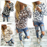 Womens Jumper Pullover Hoodies Top Winter Sweatshirt Ladies Size 6-14 UK