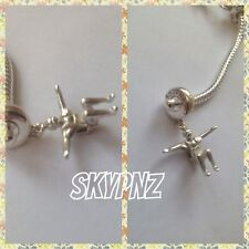 925 sterling silver Skydiver FreeFly Charm. Hand made