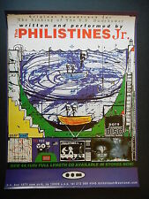Philistines Jr. original dot dot dash  in store promo poster!!! Zambonis
