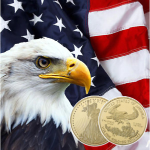 RH American Eagle Gold Plated Coin Commemorative Coins