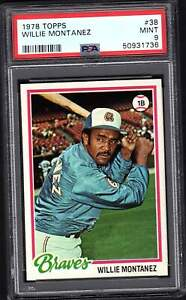 1978 Topps # 38 Willie Montanez PSA 9 MINT  combined Shipping  736