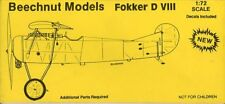 Beechnut Models 1:72 WWI Fokker D VIIII Full Model Kit #BM1011