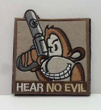 NEW  HEAR NO EVIL  LOGO   Patch