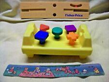 Fisher Price Workshop Bench Level Bear Ruler Vintage Preschool Pretend Play Toys