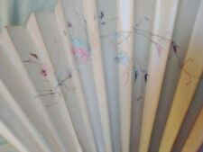 Antique Hand Painted Silk Fan with Pierced Guards and Sticks