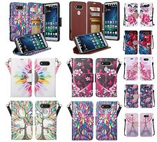 Lg V20 Design Wallet Credit Card Id Stand Flip Cell Phone Case Cover Accessory