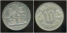 ISLANDE 10 kronur  1974
