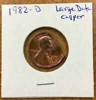 1982-D Lincoln cent  Straight Clip  off center  Double Error