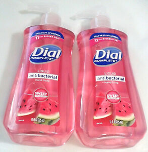 2 Dial Liquid Hand Soap Sweet Watermelon 11 FL oz Wash Away Germs & Bacteria