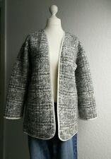 Esprit Wolljacke Strickjacke Blazer 38 grau meliert Jacke Damen Schurwolle M 40