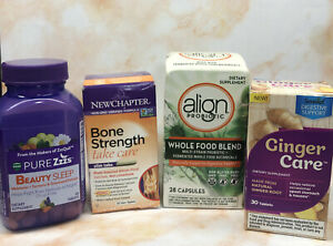 Lot Of 4 Supplements ~ Probiotics, Calcium & Melantonin ~ NEW & SEALED