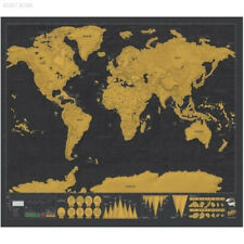 06E3 Personalized Travel Atlas Scratch Off World Map Line Planning Marking Tool