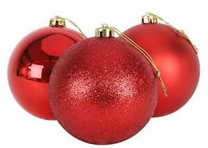 Christmas Concepts® 3-150mm Extra Large Baubles-Red-(BA86)