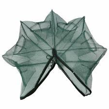 Foldable Crab Trap Cast Cage Fishing Bait Fish Minnow Crawfish Shrimp Net 6holes
