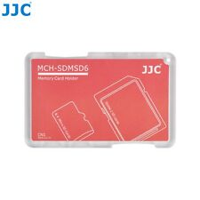 JJC Memory Card Case for 4x microSD + 2x SD Cards - Red Edition - MCH-SDMSD6