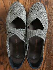 Women Bernie Mev Lulia Wedge Gold/Black Mary Jane Shoes Size 39