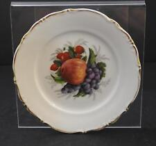 """Vintage Fruit Collectible Collector Plate Wall Shelf Bavaria Germany 7 1/2"""" P22"""