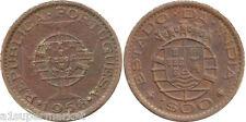 RARE INDIA PORTUGUESE [GOA] 1958 - 1 ESCUDOS COPPER NICKEL COIN