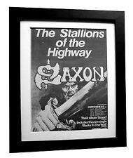 SAXON+Stallions+Wall+Teaser++POSTER+AD+RARE+ORIG 1979+FRAMED+EXPRESS GLOBAL SHIP