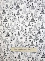 Christmas Tree Fabric - Winter Essentials Modern White - StudioE YARD