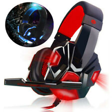 Gaming Headset with Mic and LED Light for Laptop Computer Cellphone PS4 PC