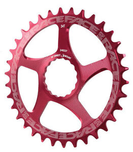Race Face Single Narrow Wide 1x MTB Direct Mount Cinch Chainring 36t Red