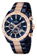 Festina Men's Quartz Watch With Blue Dial Chronograph Display and Multicolour St