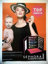PUBLICITE-ADVERTISING :  SEPHORA Top Maman  2016 Palette Color,Maquillage,Bébé