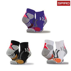 Spiro Unisex Technical Compression Sports Socks (S294X) - Adults Gym Ankle Socks