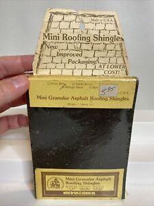 Vintage MINI BRICK & STONE CO. Mini Granular Asphalt Roofing Shingles - Black