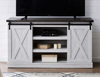 """Rustic Farmhouse Sliding Barn Door TV Stand Console Table Storage for Up To 65"""""""