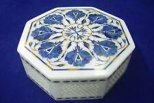 Marble Jewellery Box Trinket Box Semi Precious Stone Pietra Dura Handmade Gift