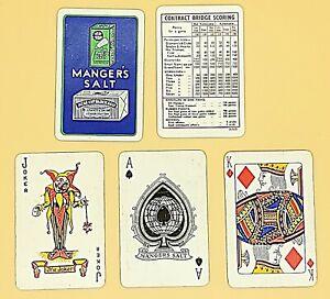 VINTAGE PLAYING CARDS, MANGER'S SALT, SPECIAL SPADE ACE, ALF COOKE, 52+J+1