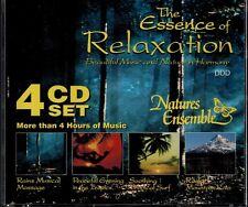 THE ESSENCE OF RELAXATION - RAINS/TROPICS/SURF/MOUNTAIN RAIN - MINT 4 CD BOX SET