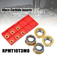 10x RPMT10T3MO Carbide Insert For Lathe Milling Cutter CNC Tool Steel Processing