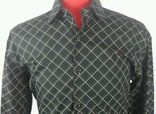 Brandolini Shirt Black and Cream 42/16.5 100 % Cotton Italy