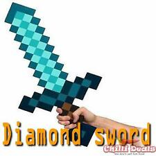 Minecraft game Pixel weapon 60cm DIAMOND swordpick EVA foam  Sword toy cosplay