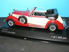 Horch 853 A Cabriolet in Met Red   Whitebox Product in 1:43rd. Scale