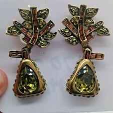 HEIDI DAUS  SWAROVSKI CRYSTAL CLIP EARRINGS