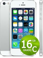 APPLE IPHONE 5 S 16 GB BLANC SILVER USAGÉ+ACCESSOIRES + GARANTIE 12 MOIS GRIS