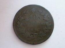 REGNO D'ITALIA  VITTORIO EMANUELE II -10 CENTESIMI 1862 PARIGI