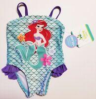 Disney Little Mermaid Baby Infant Girls Ariel Swimsuit 0-3 3-6 6-9 12 18 MONTHS