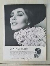 1964 Myrurgia Maja Barcelona Spain perfume bottle DeEvia hat photo ad