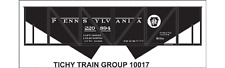 Tichy Train Group #10017 HO Scale PRR H31B Hopper Decals