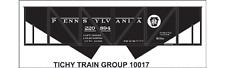 Tichy Train Group #10017O O Scale PRR H31B Hopper Decals