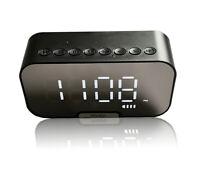 UXCELLMO Portable TF Radio FM Aux MP3 Player Alarm Clock Mirror Wireless speaker