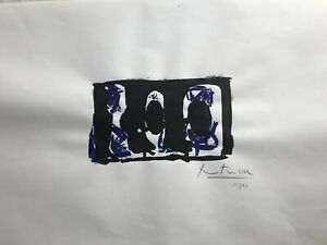 ROBERT MOTHERWELL Old Silk-screen - Hand signed in pencil-