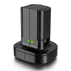 For Xbox 360 2 Pack Rechargeable Battery Pack with Dual Charging Station Dock
