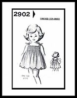 Pattern SMOCKED SUNDRESS DRESS FROCK BABY Toddler sz 2-3-4 Mail Order # 2902