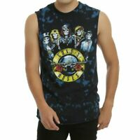 Guns N' Roses SKELETONS LOGO TIE DYE Muscle Tee Tank Top T-Shirt NEW Licensed